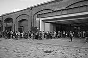 Queuing for a table at Dishoon, ( Waiting time 1 1/2 hours ) Coal Drops Yard,, King's Cross, , London, 21 August 2019