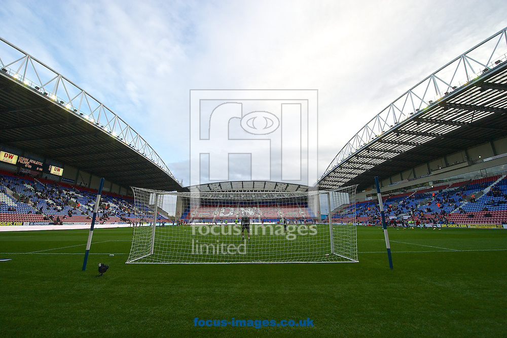 General view of the stadium pictured ahead of the Sky Bet Championship match at the DW Stadium, Wigan<br /> Picture by Ian Wadkins/Focus Images Ltd +44 7877 568959<br /> 01/11/2014