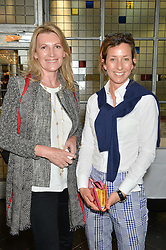 Left to right, SARAH, MARCHIONESS OF MILFORD-HAVEN and LADY LOUISE BURRELL at a ladies lunch in aid of the charity Maggie's held at Le Cafe Anglais, 8 Porchester Gardens, London on 29th April 2014.