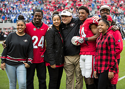November 18, 2017 - Athens, GA, USA - Athens, GA - November 18, 2017: The number 7 ranked Georgia Bulldogs host the Kentucky Wildcats at Sanford Stadium.  Final score Georgia 42, Kentucky 13. (Credit Image: © Steven Limentani/ISIPhotos via ZUMA Wire)