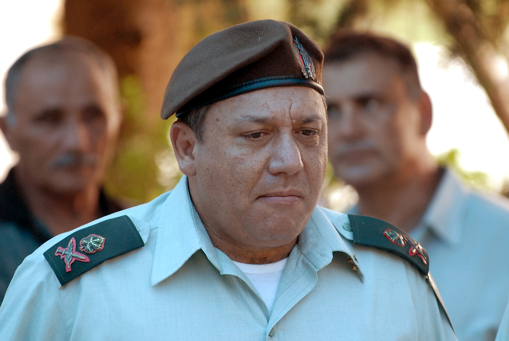 (FILE) A file picture dated August 04, 2010 shows the head of the northern Israeli command at that time, Major-General Gadi Eizenkot. Gadi Eizenkot was formally named 21st commander of IDF. Photo by Gili Yaari