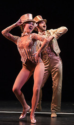 © Licensed to London News Pictures. 08/02/2013. London, England. Picture: Scarlett Strallen as Cassie and John Partridge as Zach. The Musical A CHORUS LINE opens at the London Palladium starring John Partridge and Scarlett Strallen. Photo credit: Bettina Strenske/LNP