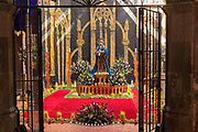 An altar celebrating El Viernes de Dolores during Holy Week March 23, 2018 in San Miguel de Allende, Mexico. The event honors the sorrow of the Virgin Mary for the death of her son and is an annual tradition in central Mexico.