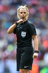 Referee Sarah Garratt - Mandatory byline: Jason Brown/JMP - 14/05/2016 - FOOTBALL - Wembley Stadium - London, England - Arsenal Ladies v Chelsea Ladies - SSE Women's FA Cup