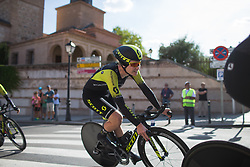 Jolien D'Hoore (BEL) of \mitch leans into the final corner on Stage 1 of the Madrid Challenge - a 12.6 km team time trial, starting and finishing in Boadille del Monte on September 15, 2018, in Madrid, Spain. (Photo by Balint Hamvas/Velofocus.com)