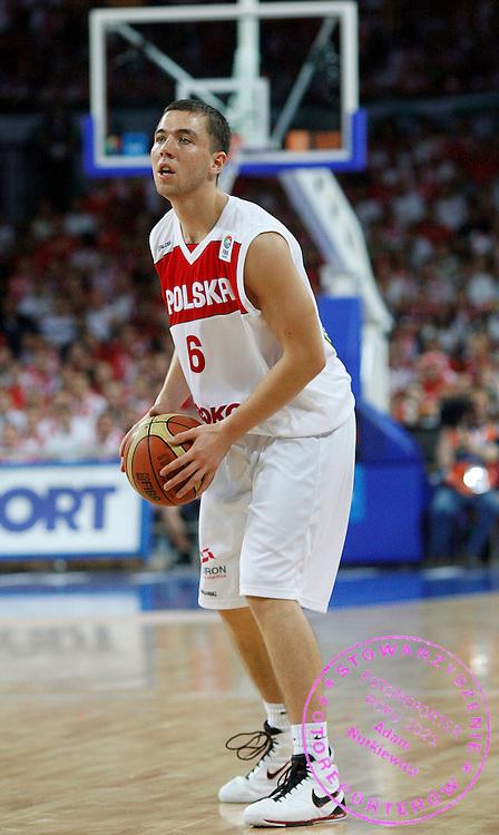 Wroclaw 07/09/2009.EuroBasket 2009.Preliminary Round - Group D.Poland v Bulgaria.Michal Chylinski of Poland ..Photo by : Piotr Hawalej / WROFOTO