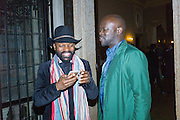 SAMSON KAMBALU, David Adjaye , Okwui Enwezor and Vinyl Facorty hosted party at Ca'Sagredo, Campo Santa Sofia Venice Biennale, Venice. 5 May 2015