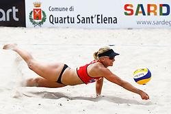 20140606 ITA: EK Beachvolleybal, Cagliari<br /> Marleen van Iersel <br /> ©2014-FotoHoogendoorn.nl / Pim Waslander