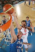 DESCRIZIONE : Bormio Ritiro Nazionale Italiana Maschile Preparazione Eurobasket 2007 Amicehvole Italia Turchia GIOCATORE : Oguz Savas Andrea Crosariol <br /> SQUADRA : Turchia <br /> EVENTO : Bormio Ritiro Nazionale Italiana Uomini Preparazione Eurobasket 2007 <br /> GARA : Italia Turchia <br /> DATA : 29/07/2007 <br /> CATEGORIA : Special <br /> SPORT : Pallacanestro <br /> AUTORE : Agenzia Ciamillo-Castoria/S.Silvestri