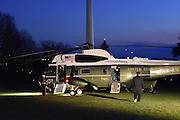 Helicopter Marine One Helicopter Marine One arriving and departing on South Lawn of the White House . Approx 5.15 pm on Friday 18th December 2015. Marine One departing with First Family,President Barack Obama and Michelle Obama and daughters Malia and Sasha, on Board for San Bernadino and Hawaii. Photo available for print, or liscencing for editorial online. Please go to Archives and Cart to purchase.Please mark  ©AWilding2015 on all image use.