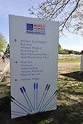 Hamilton, NEW ZEALAND.  Information Boards. 2010 World Rowing Championship on Lake Karapiro Friday  29/10/2010. [Mandatory Credit Peter Spurrier:Intersport Images]. signage,