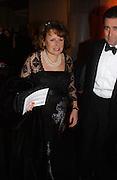 Anne Jenkin. The Black and White Winter Ball. Old Billingsgate. London. 8 February 2006. -DO NOT ARCHIVE-© Copyright Photograph by Dafydd Jones 66 Stockwell Park Rd. London SW9 0DA Tel 020 7733 0108 www.dafjones.com