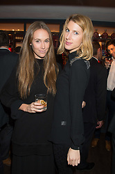 Left to right, EVEIE LONGDON and SUSANNA WARREN at the launch of La Maison Remy Martin pop-up private members club at 19 Greek Street, Soho, London on 2nd November 2015.