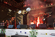 Vienna. MuseumsQuartier (MQ Vienna) is celebrating its 10th year..Russkaja concert,