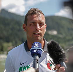 21.07.2015, Trainingsplatz, Walchsee, AUT, FC Augsburg, Trainingslager, im Bild Markus Weinzierl (Trainer FC Augsburg), im Interview, // during a training session of the German Bundesliga Club FC Augsburg at the Trainingsplatz in Walchsee, Austria on 2015/07/21. EXPA Pictures © 2015, PhotoCredit: EXPA/ Eibner-Pressefoto/ Krieger<br /> <br /> *****ATTENTION - OUT of GER*****