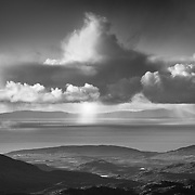 Cloudburst over the Minch, North West Highlands