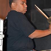 NLD/Huizen/20100917 - South Sea Jazz Huizen 2010, optreden Massada, drummer Alvin Manuhuwa