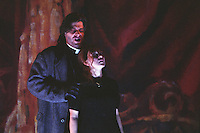 "Royal Opera in Donizetti's ""Lucia di Lammermoor""<br /> <br /> Lucia: Andrea Rost<br /> Raimondo Bidebend: John Relyea<br /> <br /> <br /> Director: Christof Loy<br /> Designs: Herbert Murauer<br /> Lighting: Rheinhard Traub"