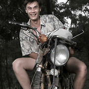 ME AND MY MINSK: Portraits of Minsk Club members with their bikes at the 5th annual Minsk Olympics at Thac Da, Vietnam.