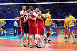 September 30, 2018 - Turin, Piedmont, Italy - Polish players celebrates during the final match between Brazil and Poland for the FIVB Men's World Championship 2018 at Pala Alpitour in Turin, Italy, on 30 September 2018. Poland won 3: 0 and it is confirmed world champion. (Credit Image: © Massimiliano Ferraro/NurPhoto/ZUMA Press)