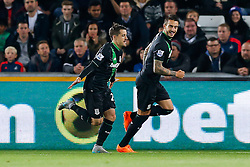 Bojan Krkic of Stoke City celebrates scoring a goal from the penalty spot to make it 0-1 - Mandatory byline: Rogan Thomson/JMP - 07966 386802 - 19/10/2015 - FOOTBALL - Liberty Stadium - Swansea, Wales - Swansea City v Stoke City - Barclays Premier League.