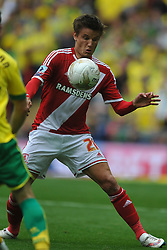 Jelle Vossen Middlesbrough, Middlesbrough v Norwich, Sky Bet Championship, Play Off Final, Wembley Stadium, Monday  25th May 2015