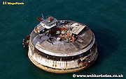 aerial photograph of Spitbank Fort Portsmouth Hampshire UK