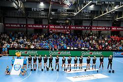 Players of RK Krim Mercator during handball match between RK Krim Mercator and HC Podravka Vegeta in Group Matches of Women's EHF Champions League 2018/19, on November 3, 2018 in Kodeljevo, Ljubljana, Slovenia. Photo by Matic Klansek Velej / Sportida