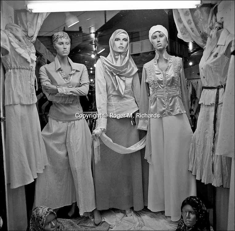 Mannequins in a shop window in Bascarsija, Sarajevo, July 2008.