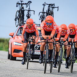 BERTIZZOLO Sofia ( ITA ) – MOOLMAN-PASIO Ashleigh ( RSA ) - PALADIN Soraya ( ITA ) - ROOIJAKKERS Paulien ( NED ) - STULTIENS Sabrina ( NED ) - VOS Marianne ( NED ) – CCC - Liv ( CCC ) - NED – Querformat - quer - horizontal - Landscape - Event/Veranstaltung: Giro Rosa Iccrea - 1. Stage - Category/Kategorie: Cycling - Road Cycling - Cycling Tour - Elite Women - Location/Ort: Europe – Italy - Start: Grosseto - Finish: Grosseto - Discipline: Cycling - Road Cycling - Cycling Tour - Team Time Trail ( TTT ) - Distance: 16,8 km - Date/Datum: 11.09.2020 – Friday - Photographer: © Arne Mill - frontalvision.com