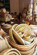 Kappabashi Basket Shop - Baskets and wickerware shop in Kappabashi, the restaurant and kitchenware district of Asakusa, Tokyo.