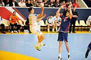 DESCRIZIONE : France Hand D1 Championnat de France D1 a Paris <br /> GIOCATORE : GREBILLE Mathieu<br /> SQUADRA : Montpellier<br /> EVENTO : FRANCE Hand D1<br /> GARA : Paris Montpellier<br /> DATA : 30/09/2012<br /> CATEGORIA : Hand D1 <br /> SPORT : Handball<br /> AUTORE : JF Molliere <br /> Galleria : France Hand 2012-2013 Action