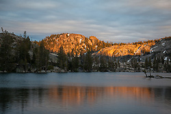 """Paradise Lake Sunset 3"" - Photograph of Paradise Lake in the Tahoe National Forest taken at sunset."