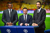 Marcel DESAILLY / Ludovic GIULY / Robert PIRES - 17.03.2015 - Monaco / Arsenal - 1/8Finale Retour Champions League<br />