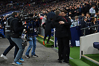 Football - 2018 / 2019 Premier League - Tottenham Hotspur vs. Manchester United<br /> <br /> Manchester United caretaker manager Ole Gunnar Solskjaer greets Tottenham Hotspur manager Mauricio Pochettino, at Wembley Stadium.<br /> <br /> COLORSPORT/ASHLEY WESTERN