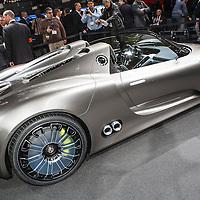 Porsche 918 Spyder Concept at the Geneva Motor Show 2010