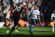 AFC Bournemouth's midfielder Matt Ritchie shoots and scores during the Barclays Premier League match between Bournemouth and Tottenham Hotspur at the Goldsands Stadium, Bournemouth, England on 25 October 2015. Photo by Mark Davies.