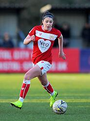 Carla Humphrey of Bristol City in action- Mandatory by-line: Nizaam Jones/JMP - 27/01/2019 - FOOTBALL - Stoke Gifford Stadium - Bristol, England - Bristol City Women v Yeovil Town Ladies- FA Women's Super League 1