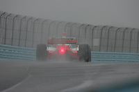 Helio Castroneves in the wet at Watkins Glen International, Watkins Glen Indy Grand Prix, September 25, 2005