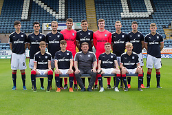 Dundee FC under 20s development squad for 2017-18; <br /><br />Back row left to right - Callum Moore, Sam Dryden, Conor Quigley, Kyle Gourlay, Taylor Berry, Callum Ferrie, Matty Henvey,  Jordan Piggott, Cameron Mooney, <br /><br />Front row left to right - Jack Lambert, Brian Rice, Jimmy Boyle coach), Connor Coupe, Max Anderson