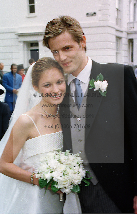 MR & MRS ZAC GOLDSMITH, he is the son of the late Sir James Goldsmith, at a wedding in London on 5th June 1999.MSW 78
