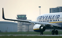 © Licensed to London News Pictures. 31/10/12 Airline Ryanair is to expand its operations and create an estimated 1000 jobs at airports in Liverpool, Manchester and the East Midlands. File picture dated .General Views of Ryanair aircraft. Ryanair announces its financial results for the first half of the financial year to 30 September