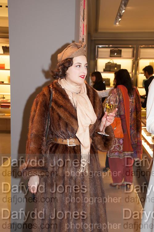 ADELLE MILDRED, Smythson Sloane St. Store opening. London. 6 February 2012.