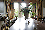 The dining room at The Old Rectory, Chumleigh, Devon <br /> CREDIT: Vanessa Berberian for The Wall Street Journal<br /> LUXRENT-Nanassy/Chulmleigh