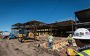 Construction at Lawson Middle School, March 31, 2017.