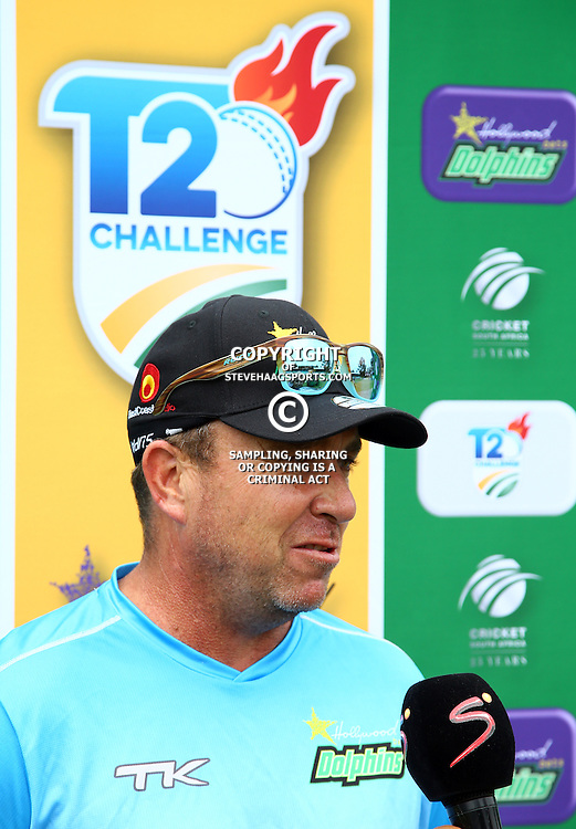 Grant Morgan Hollywoodbets Dolphins Head Coach during the Hollywoodbets Dolphins and Warriors T20 T20 Challenge.Sahara Stadium, Kingsmead Durban, South Africa.13 November 2016 - (Photo by Steve Haag)