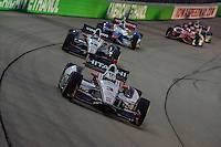 Helio Castroneves, Will Power, Iowa Speedway, Newton, IA, USA 7/6/2014