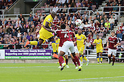 AFC Wimbledon striker Tom Elliott (9) on the attack during the EFL Sky Bet League 1 match between Northampton Town and AFC Wimbledon at Sixfields Stadium, Northampton, England on 20 August 2016. Photo by Stuart Butcher.
