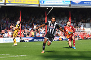 Grimsby Town's Matt Green(7) celebrates scoring goal to go 3-1 during the EFL Sky Bet League 2 match between Grimsby Town FC and Port Vale at Blundell Park, Grimsby, United Kingdom on 24 August 2019.