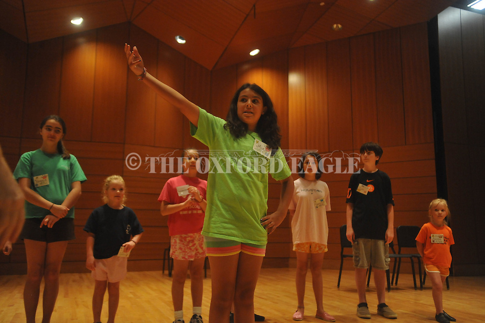 "Mia Sinha (right) rehearses for the Oxford Shakespeare Festival's musical, ÒCamelot"" at the Youth Music Theatre Workshop in Oxford, Miss. on Wednesday, June 15, 2011."
